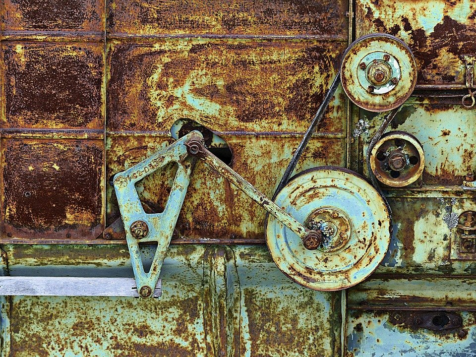 rusting old equipment
